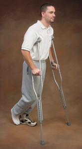 Aluminum Adjustable Crutches, Youth