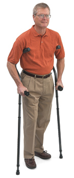 Millennial Ergonomic Crutch, Short Pair